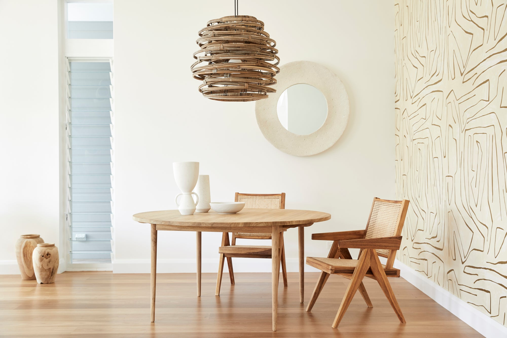 Round Timber Dining Table