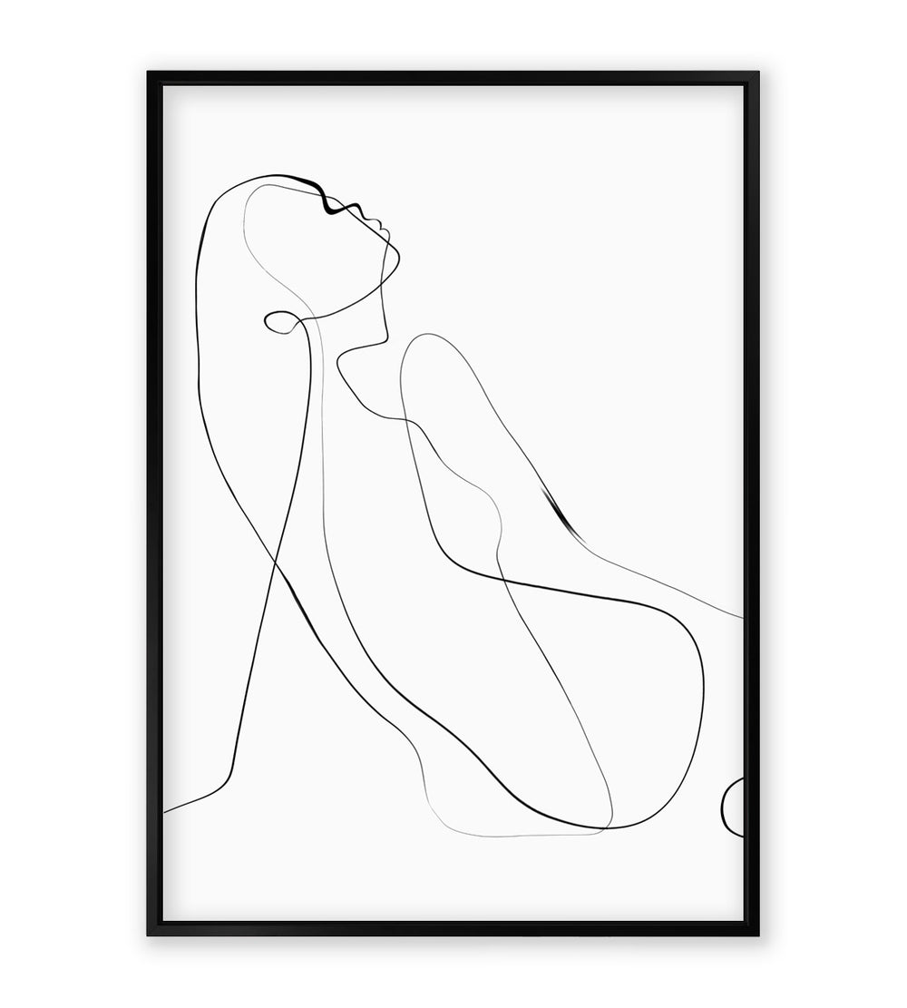"""Kroki"" Line Artwork Print - Comes Without Frame"
