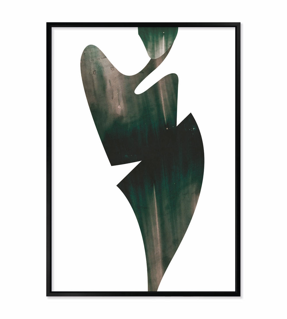 "Metallic ""Shore"" Fine Artwork With Frame - For Homes & Offices"