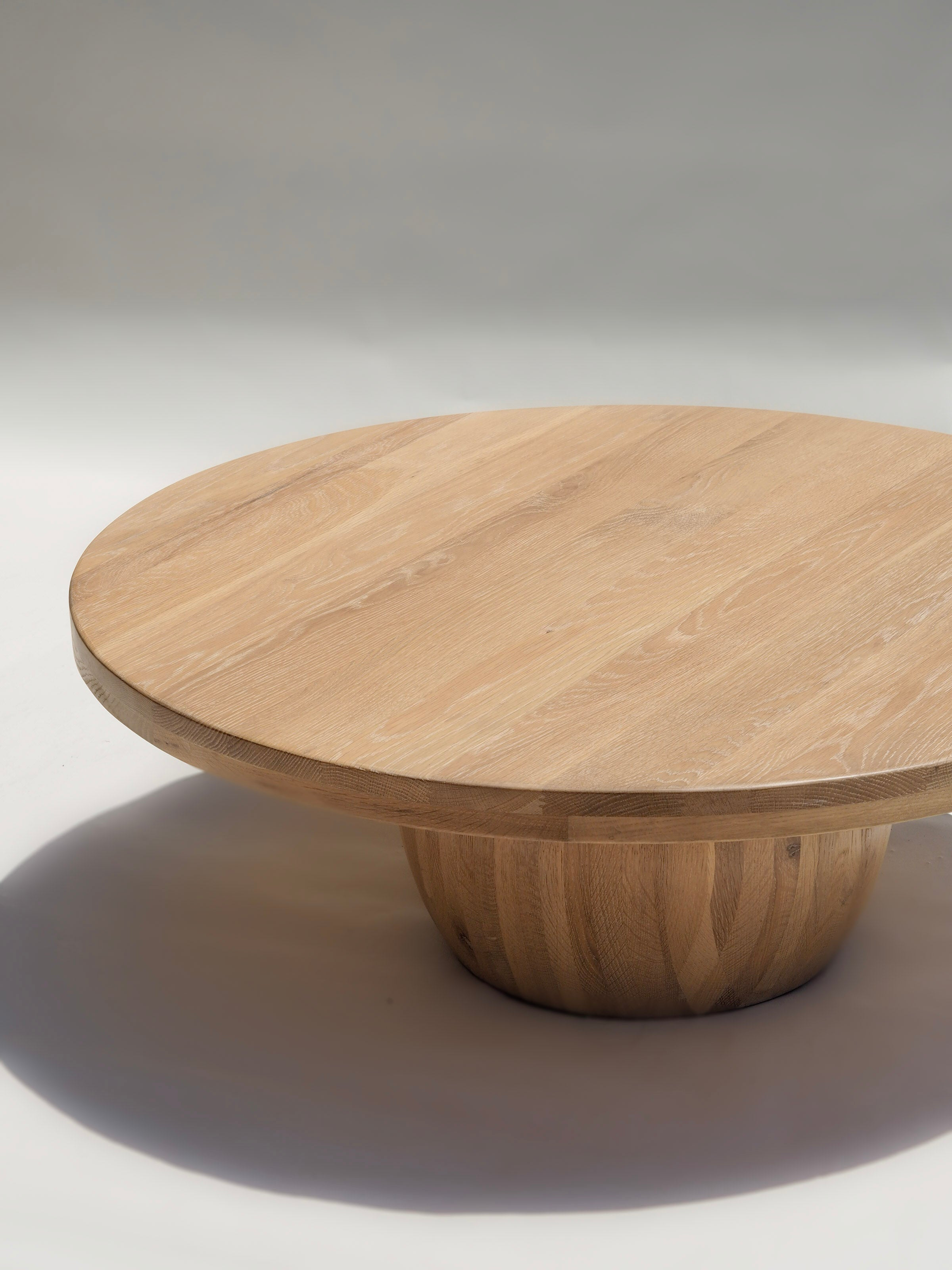 Oak Timber Round Ball Coffee Table