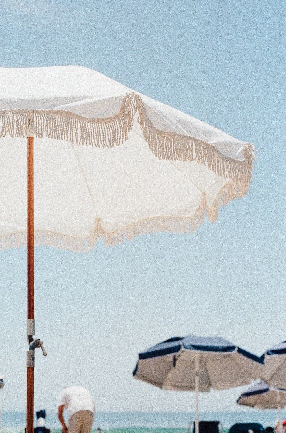 The Holiday Beach Umbrella - Antique White