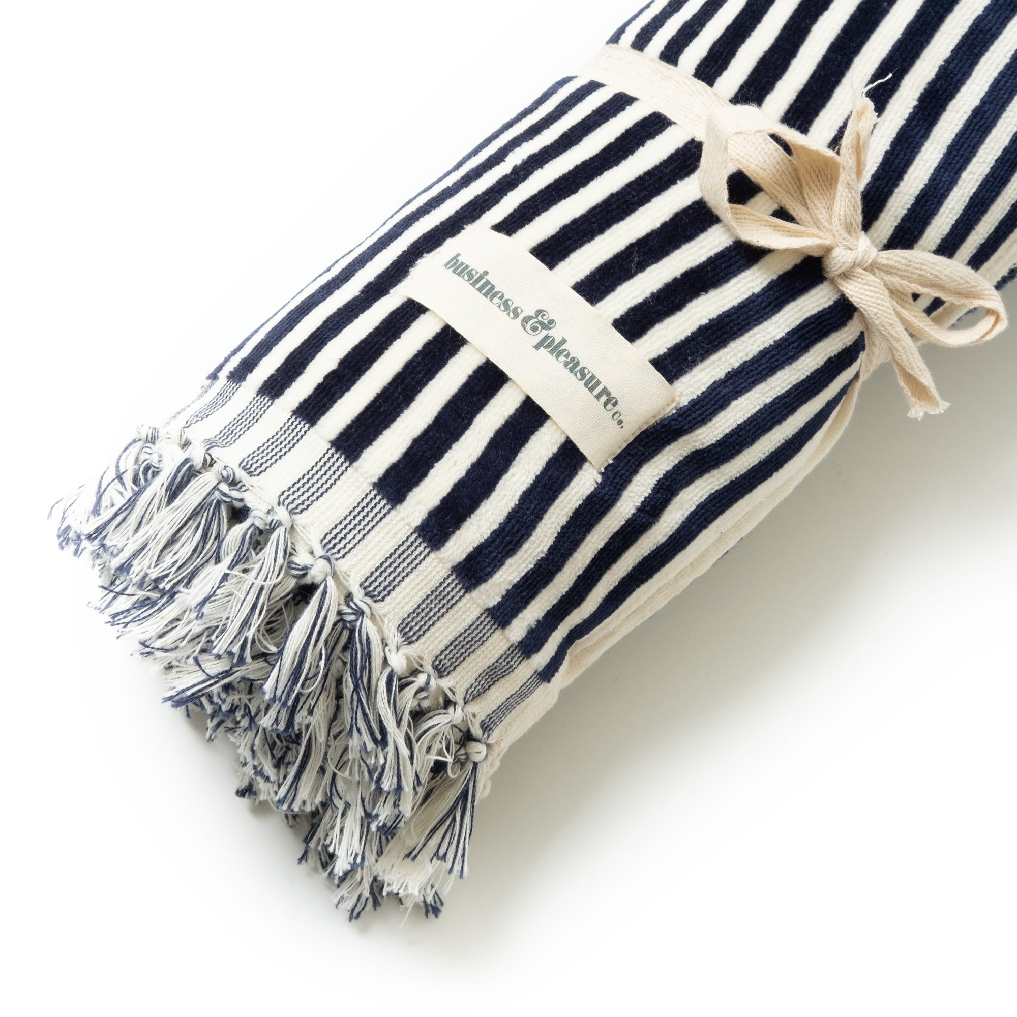 The Beach Towel - Lauren's Navy Stripe