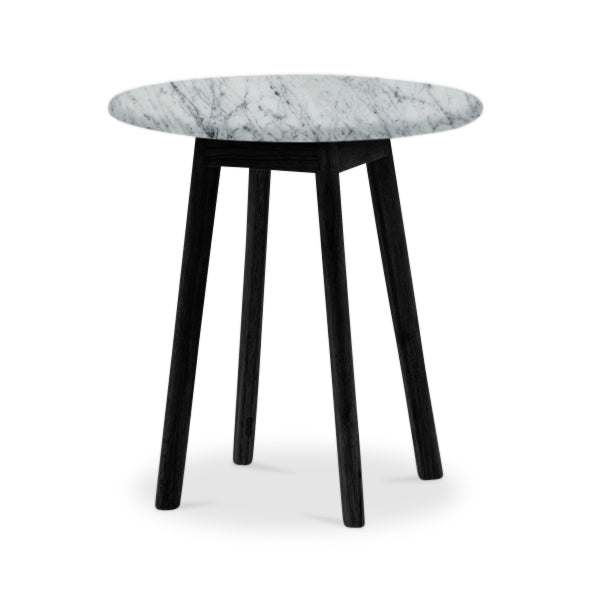 Scandi Round Marble Side Table