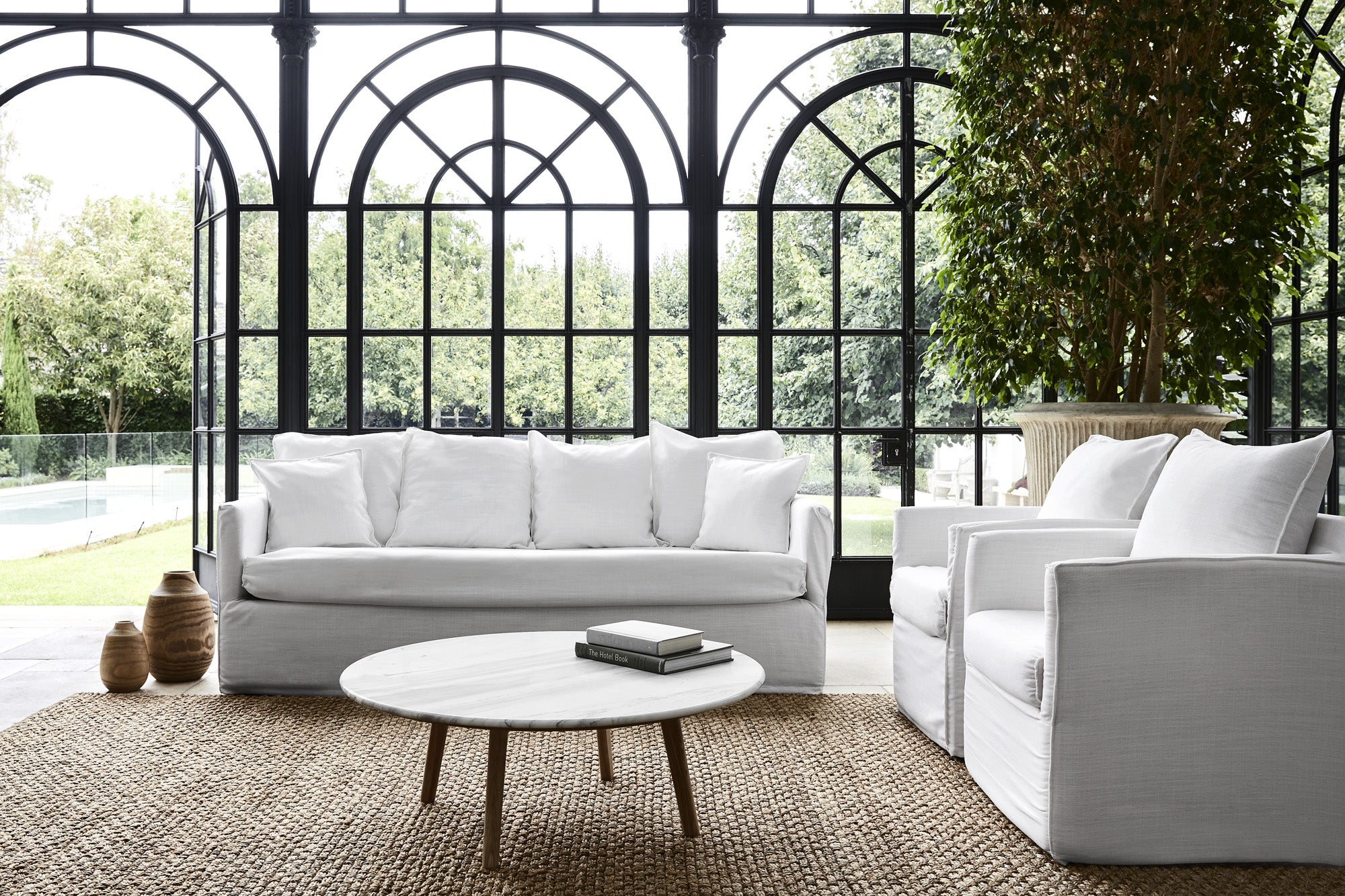 Slip Wash Sofa Set in Living Room