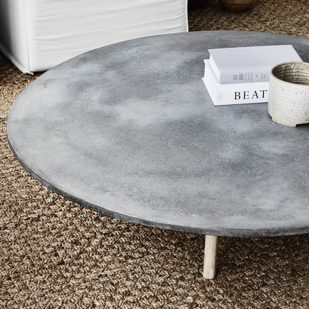Round Concrete Low Coffee Table – harpers project