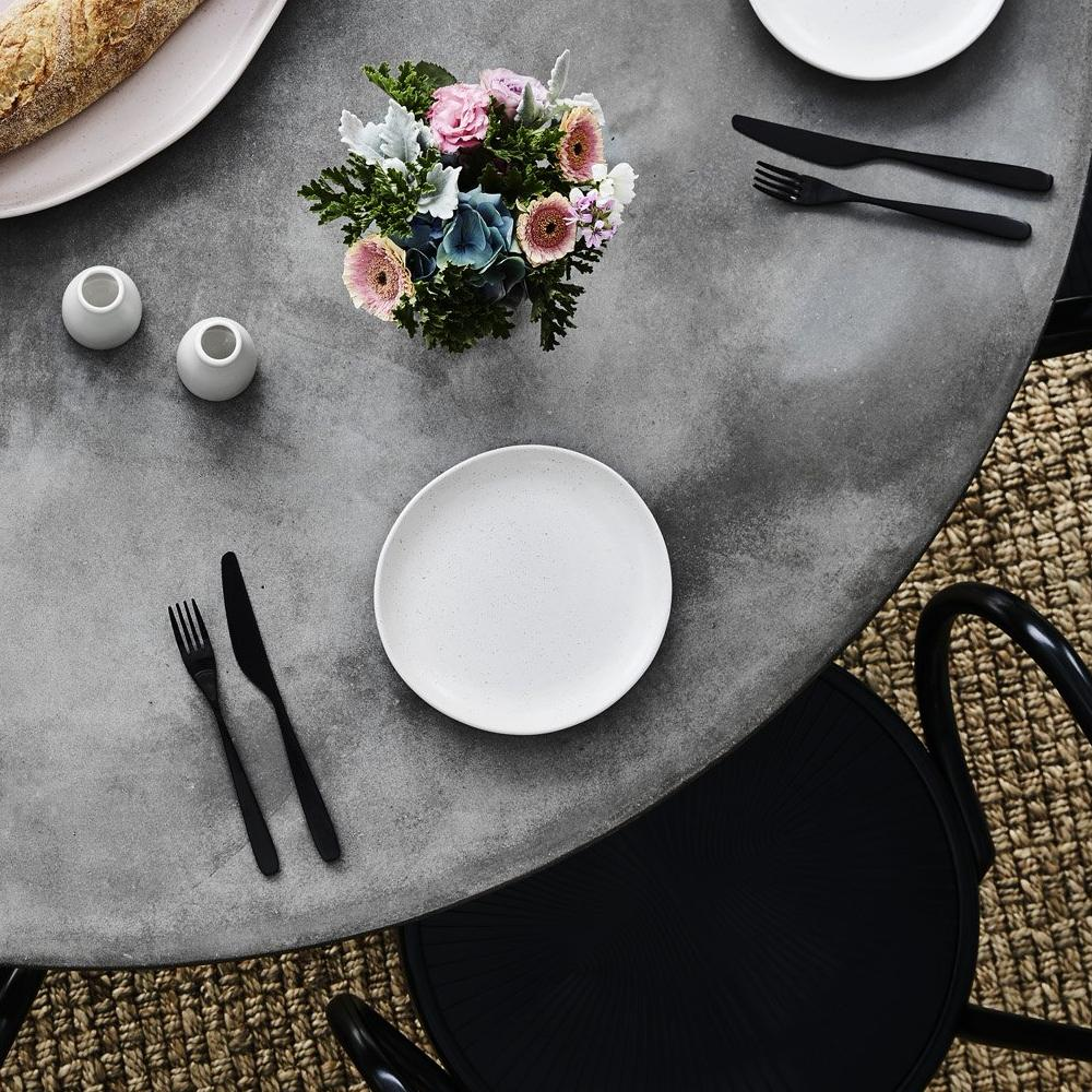 Classy & Elegant Interior Styling of Concrete Dining Table