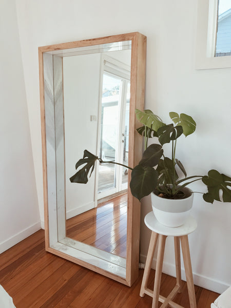 Free Standing Full Length Marble Amp Timber Mirror Harpers