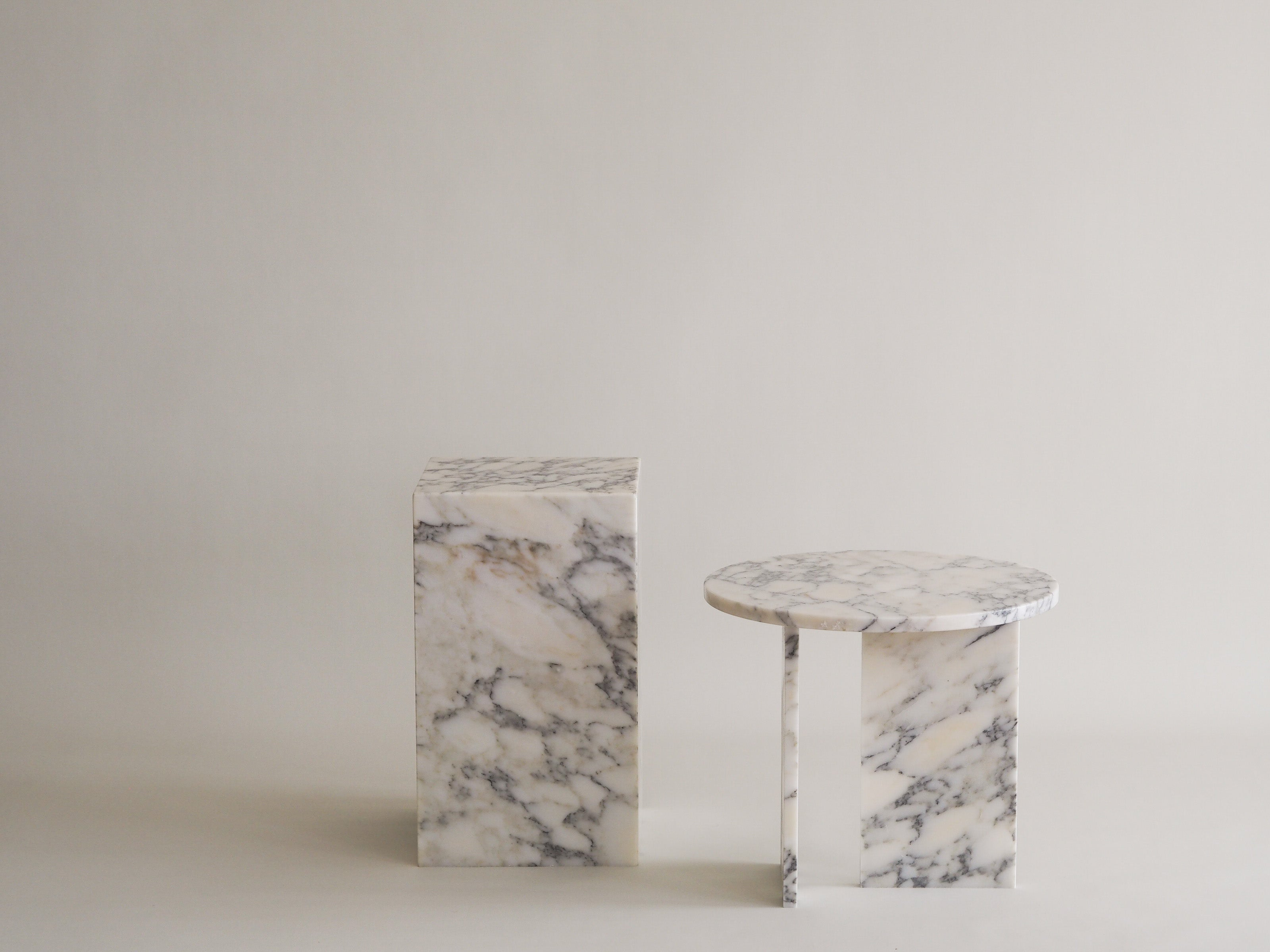 Marble T Frame Coffee Table