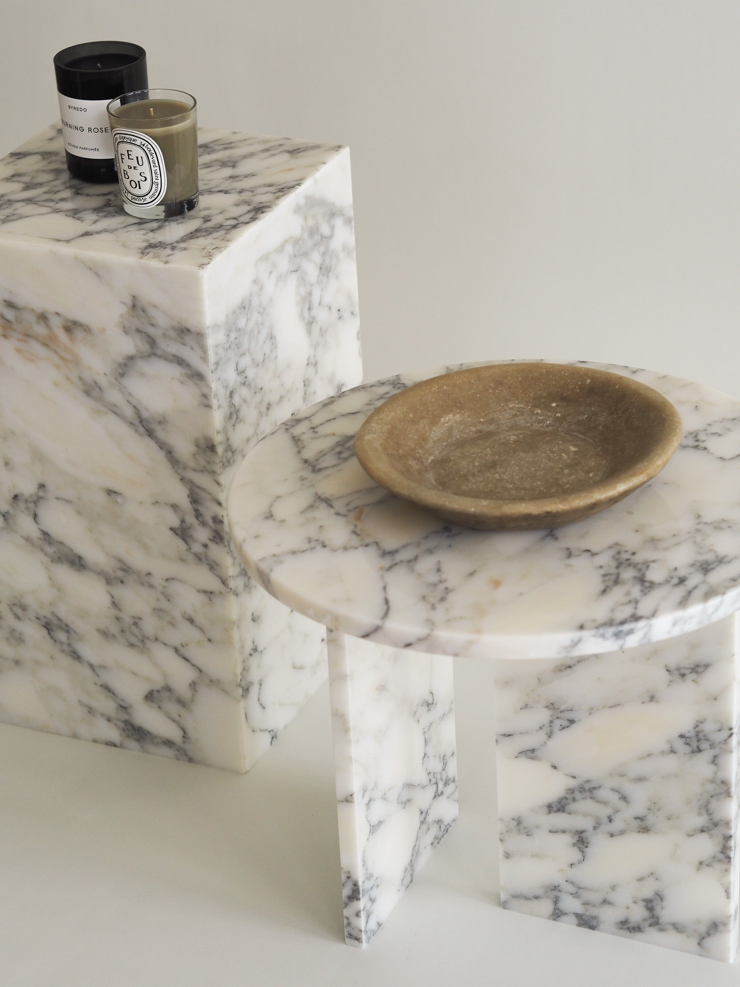 Marble Plinth Side Table
