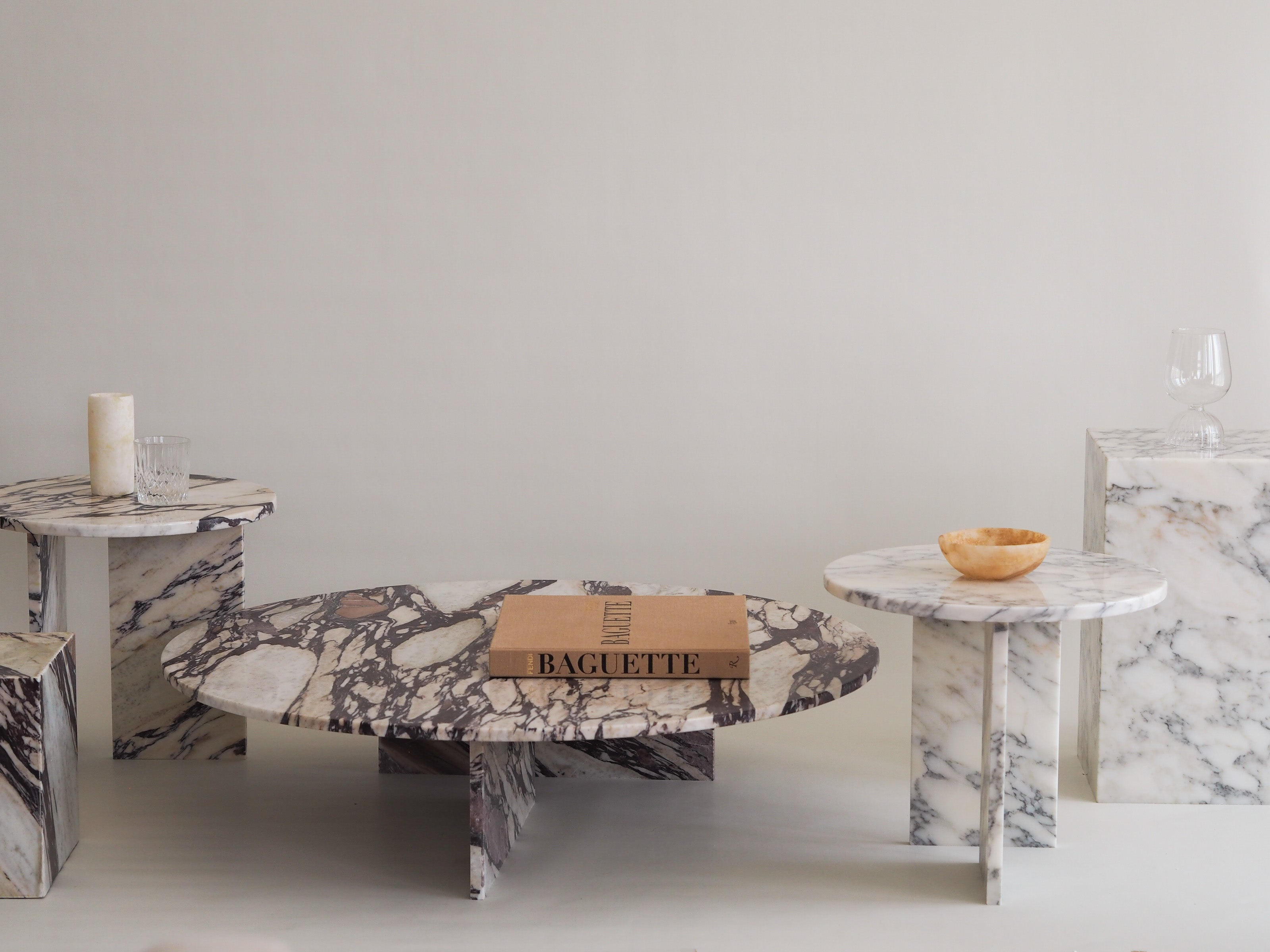 Marble Plinth Coffee Table