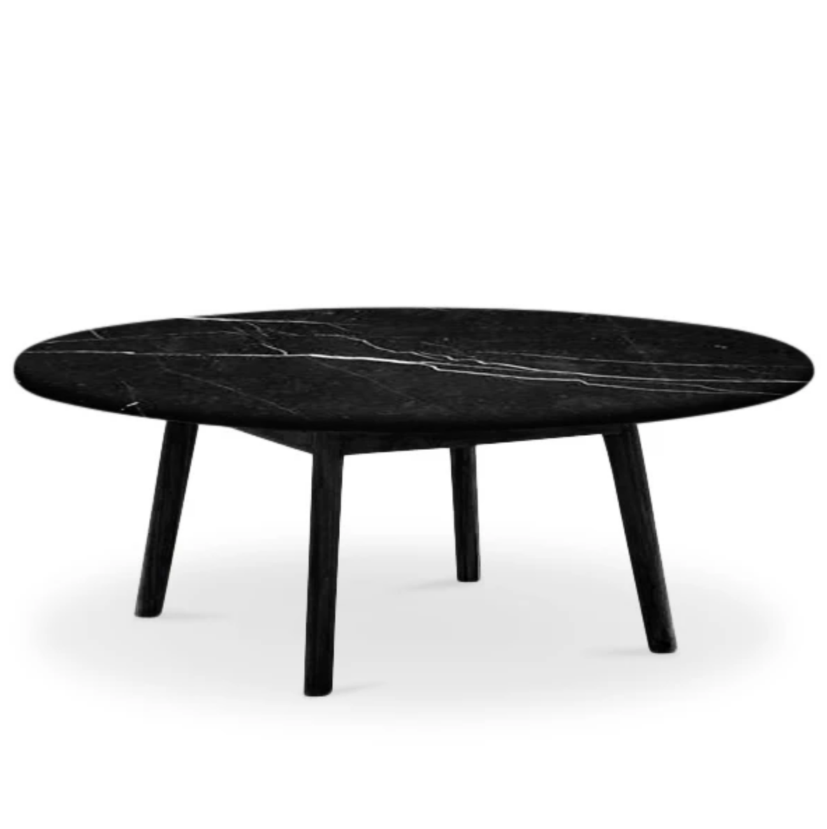 Scandi Low Round Marble Coffee Table
