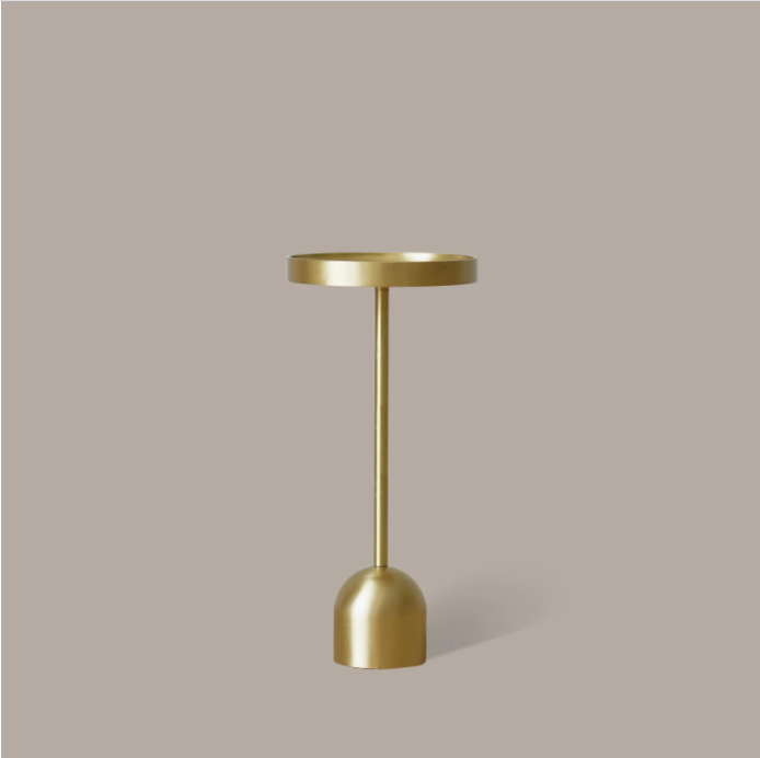 Fountain Brass Candle Holder