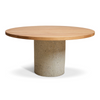 Round Concrete Cylinder Dining Table