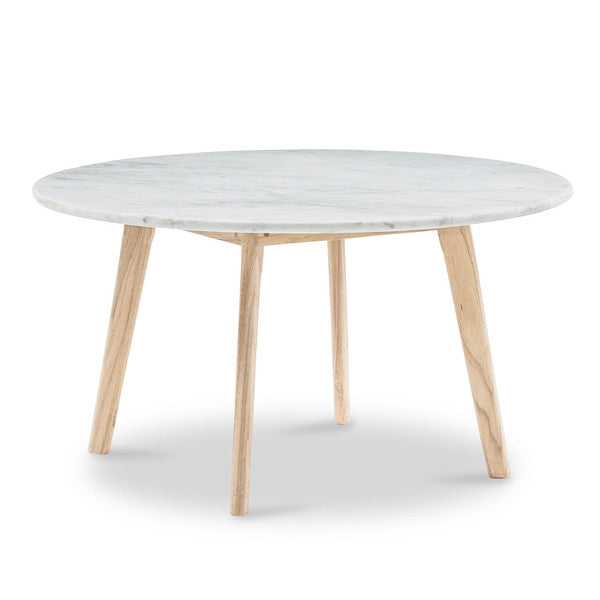 Medium Scandi Round Marble Coffee Table