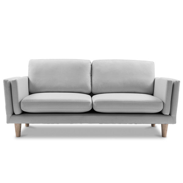 2.5 Seater Grey Sofa With Timber Frame
