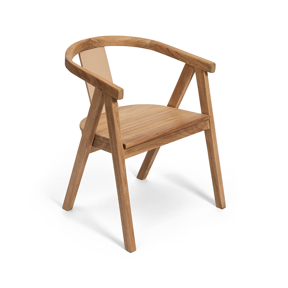 Solid Timber Leather Dining Chair
