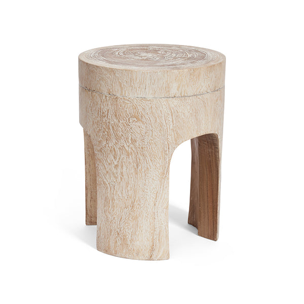 White Wash Simple Stool