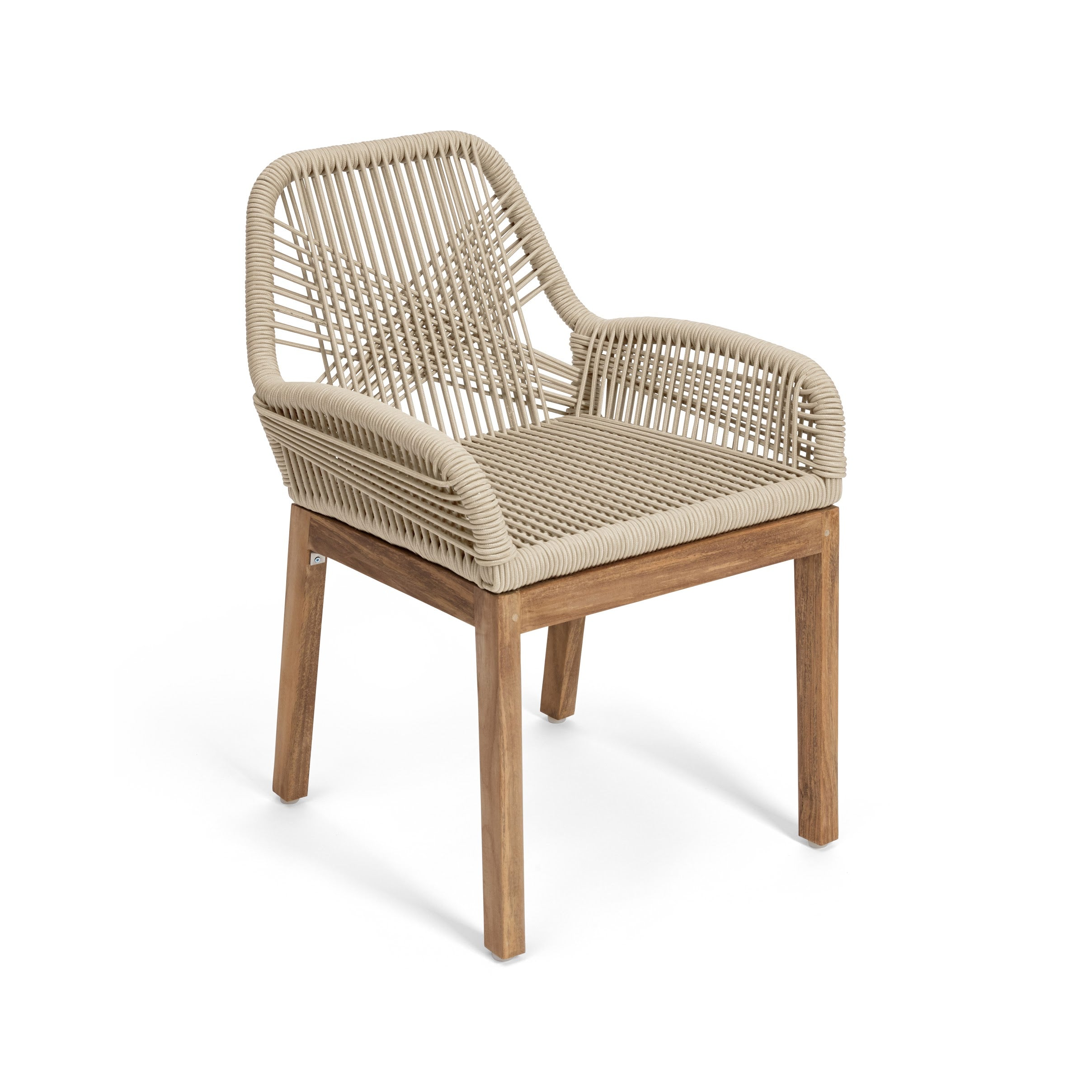 Hand-Woven Cross Cord Dining Chair