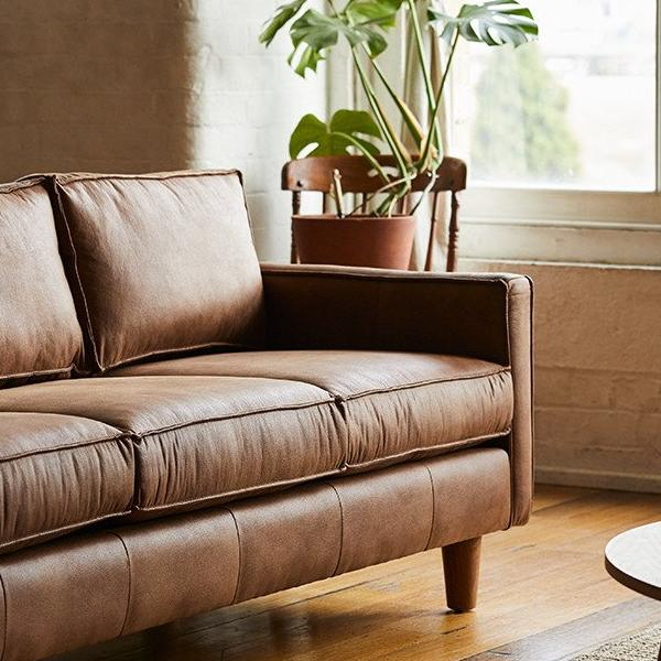 Dark Brown Leather Chester Sofa - Stylish and Modern