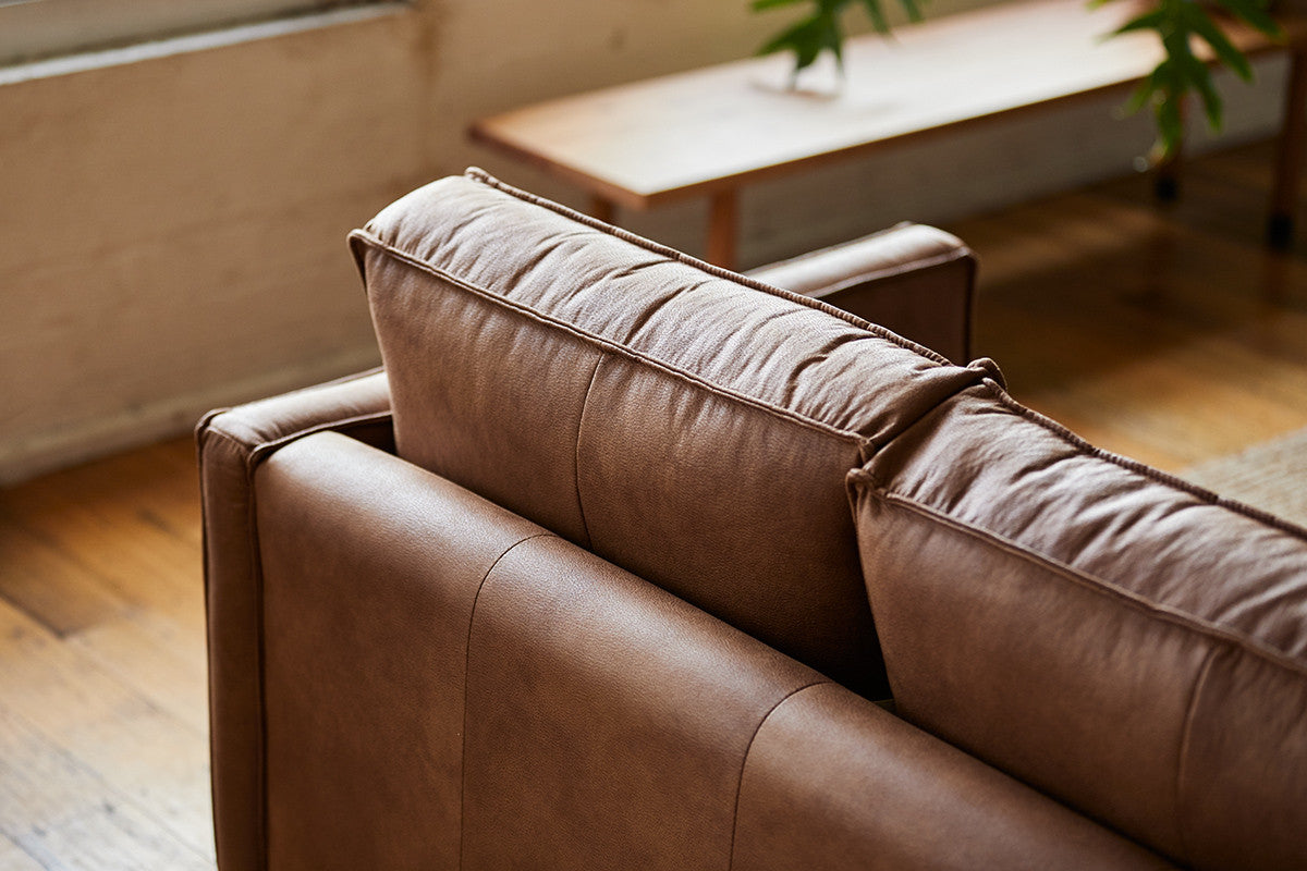 Beautifully & Neatly Sewn Leather Chester Sofa
