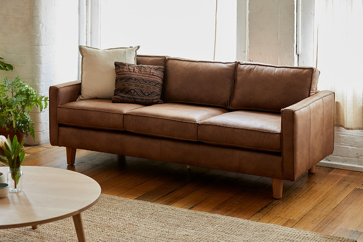 The 3-Seater Chester Sofa in Living Area with Natural Jute Rug