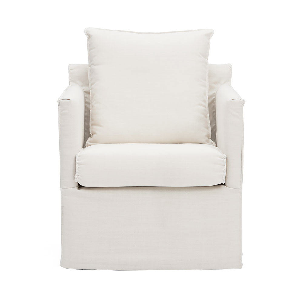 Snow Coloured Scandi Slip Wash Armchair