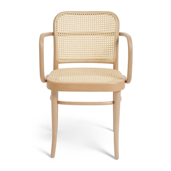 CANE SIDE ARM DINING CHAIR
