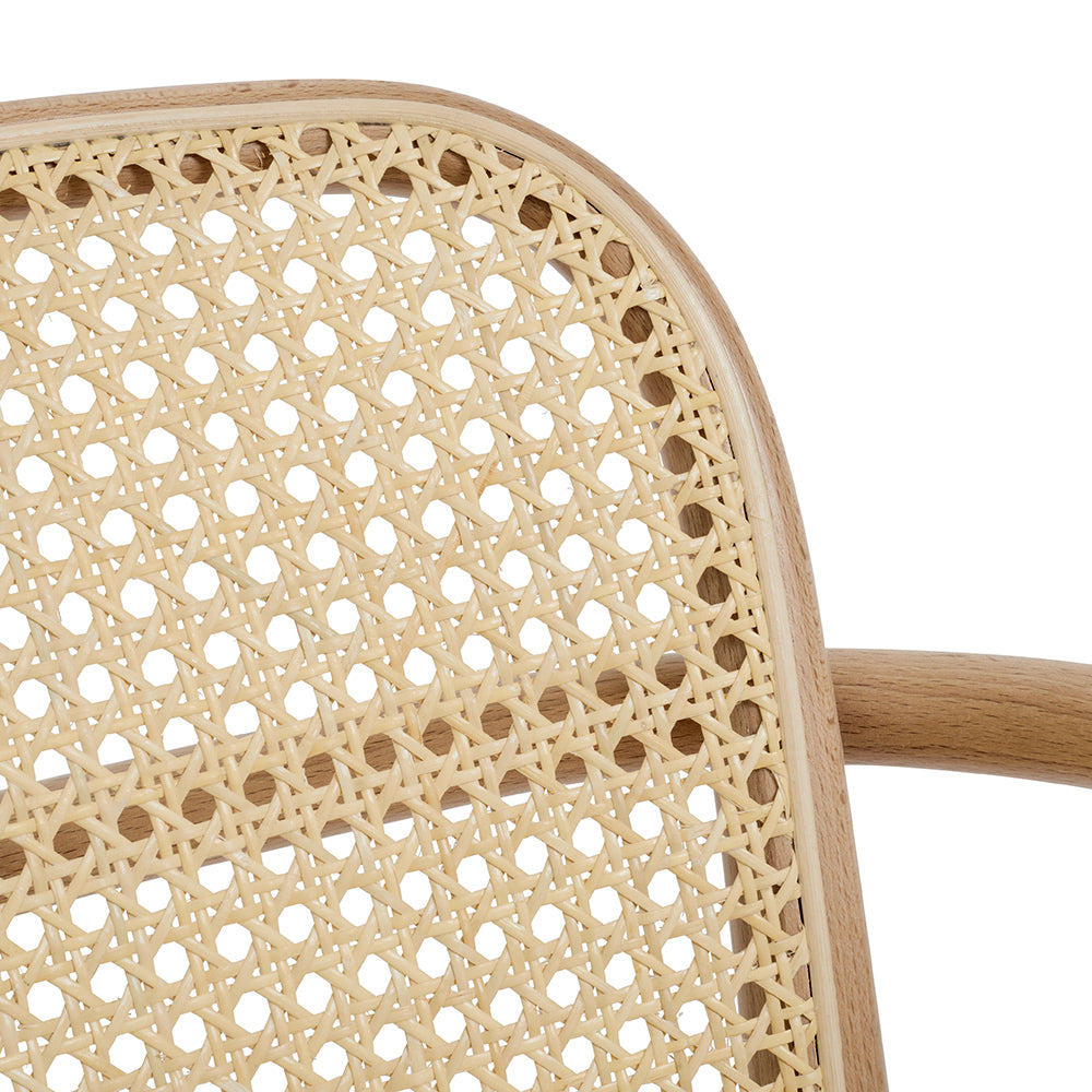 Timeless Natural Cane Dining Chairs Made For Extra Lightness
