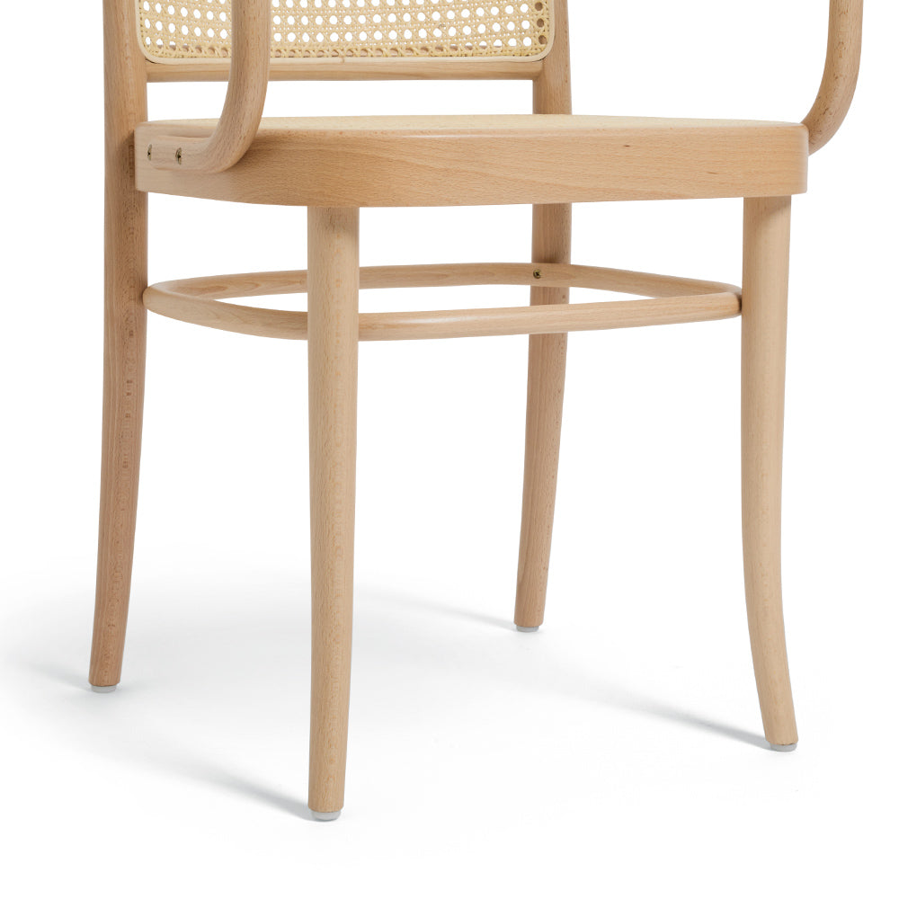 811 Bentwood Cane Dining with Arms