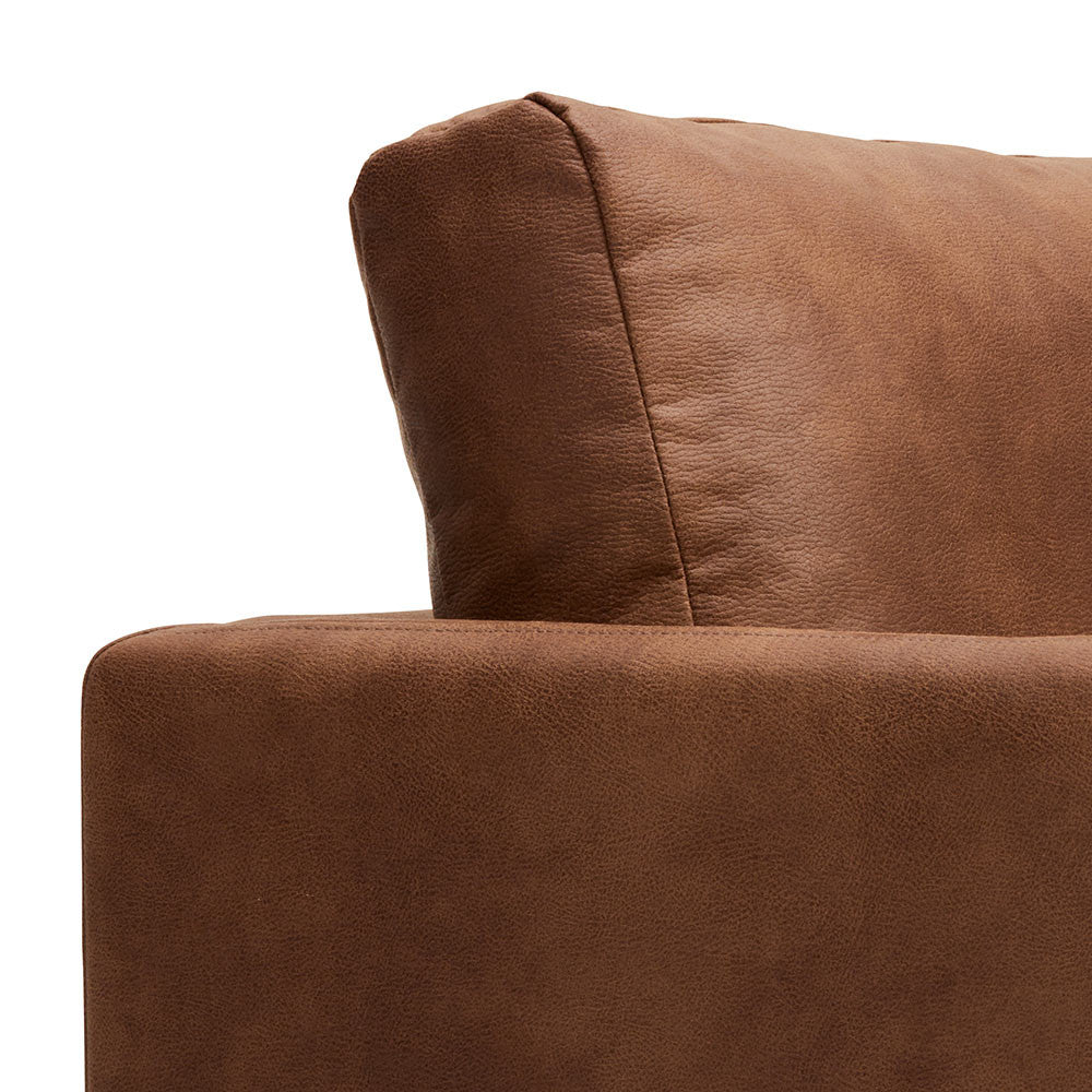 Chester Timber Armchair - Oak & Harness Brown Colours