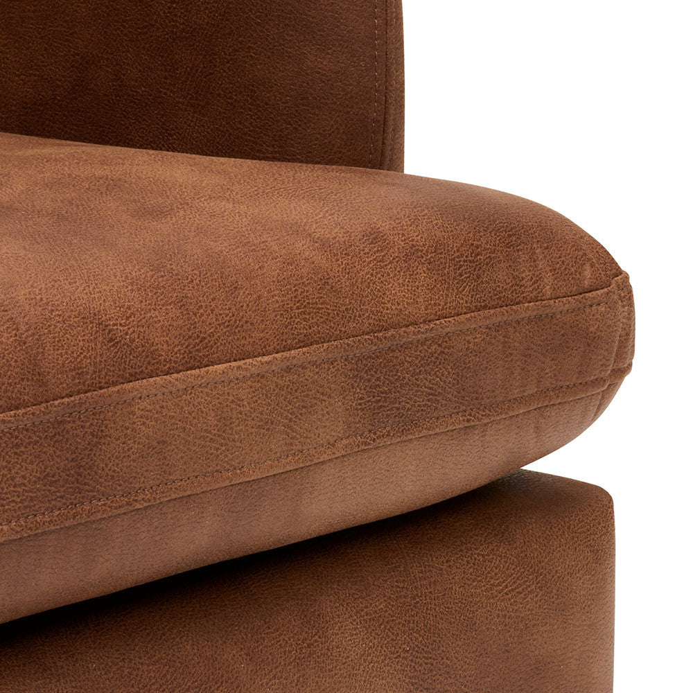 100% Genuine Leather Chester Timber Armchair