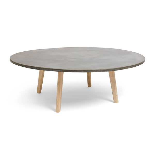 Round Concrete Low Coffee Table