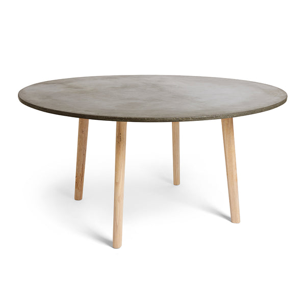 6 Seater Round Dining Table: 4 Or 6-Seater Scandi Round Concrete Dining Table