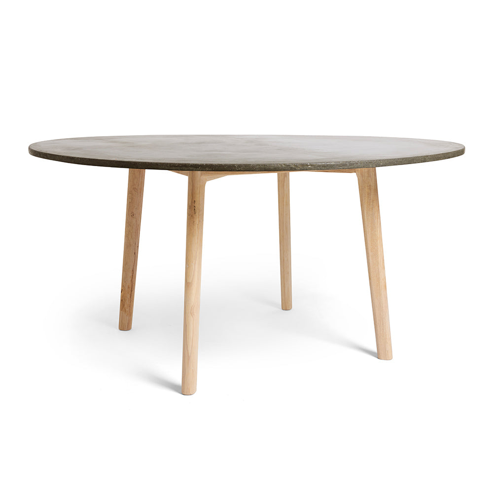 Sophisticated Round Concrete Dining Table