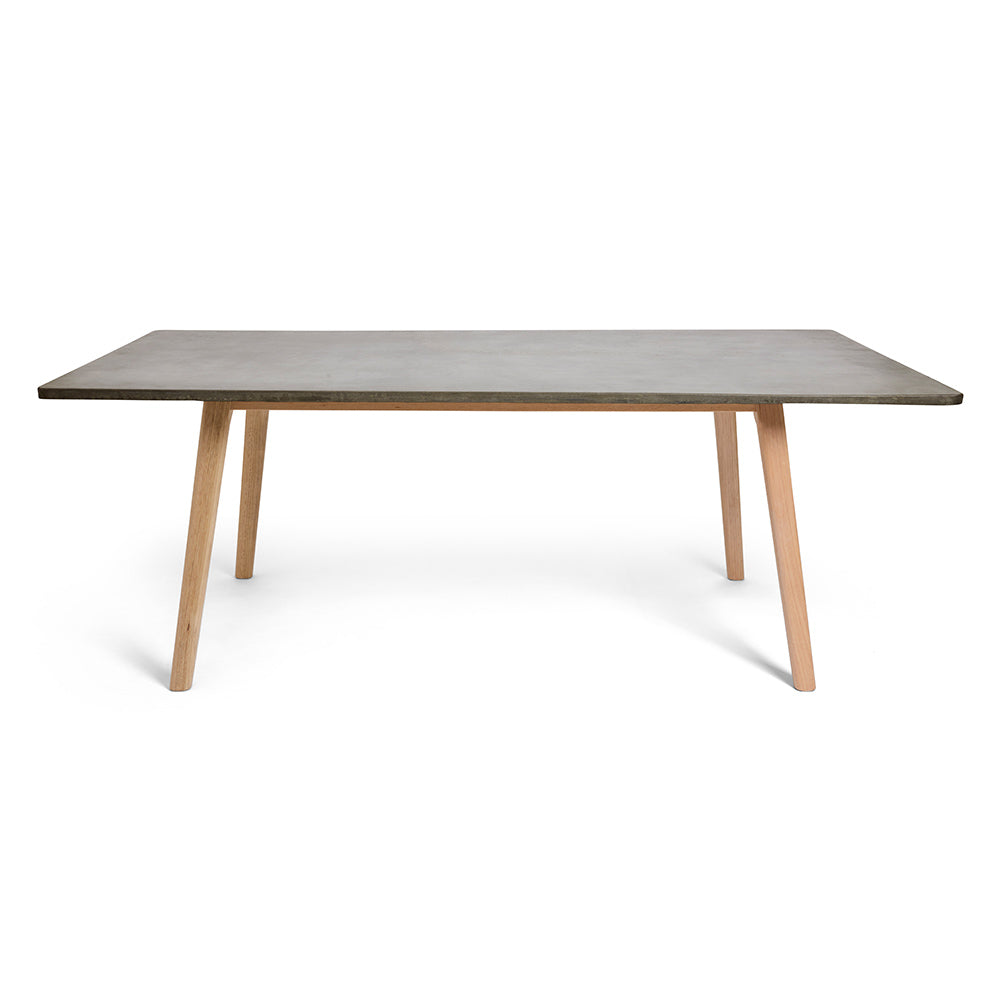 Eco-friendly Rectangle Concrete Dining Table