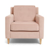 Get This 1-Seater Coral Pink Luxe Button Armchair
