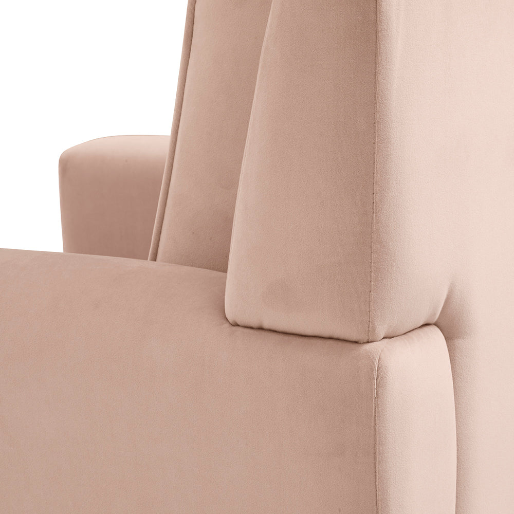 Close Up Look of The Coral Pink Button Armchair