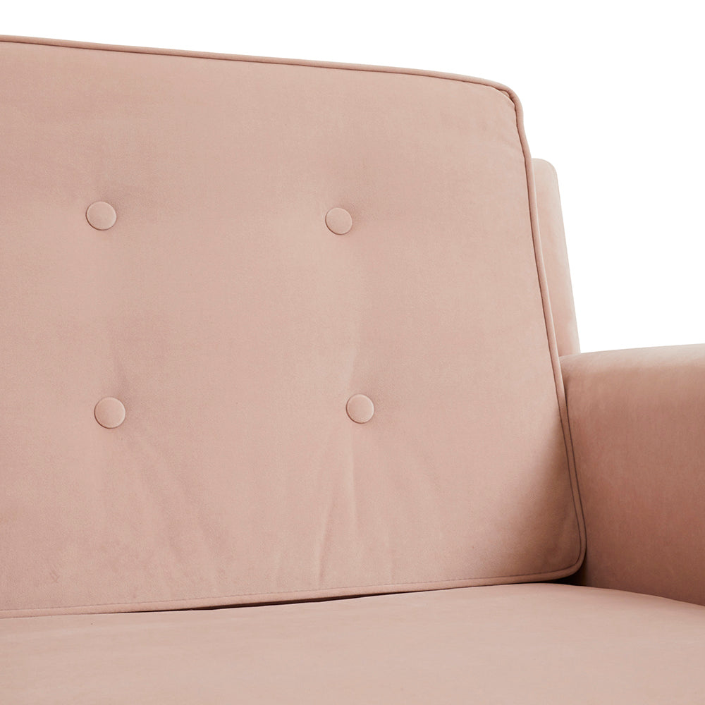 Australian-Made Pink Button Armchair  Order Online