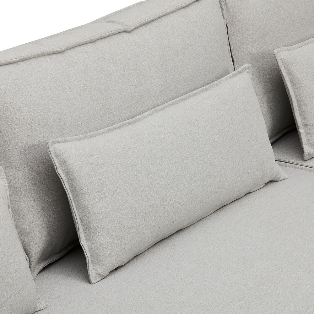 Soft & Luxe Melrose Chaise Sofa with Pillows