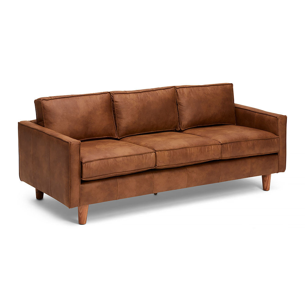The Chester Sofa Made of Brown Genuine Leather