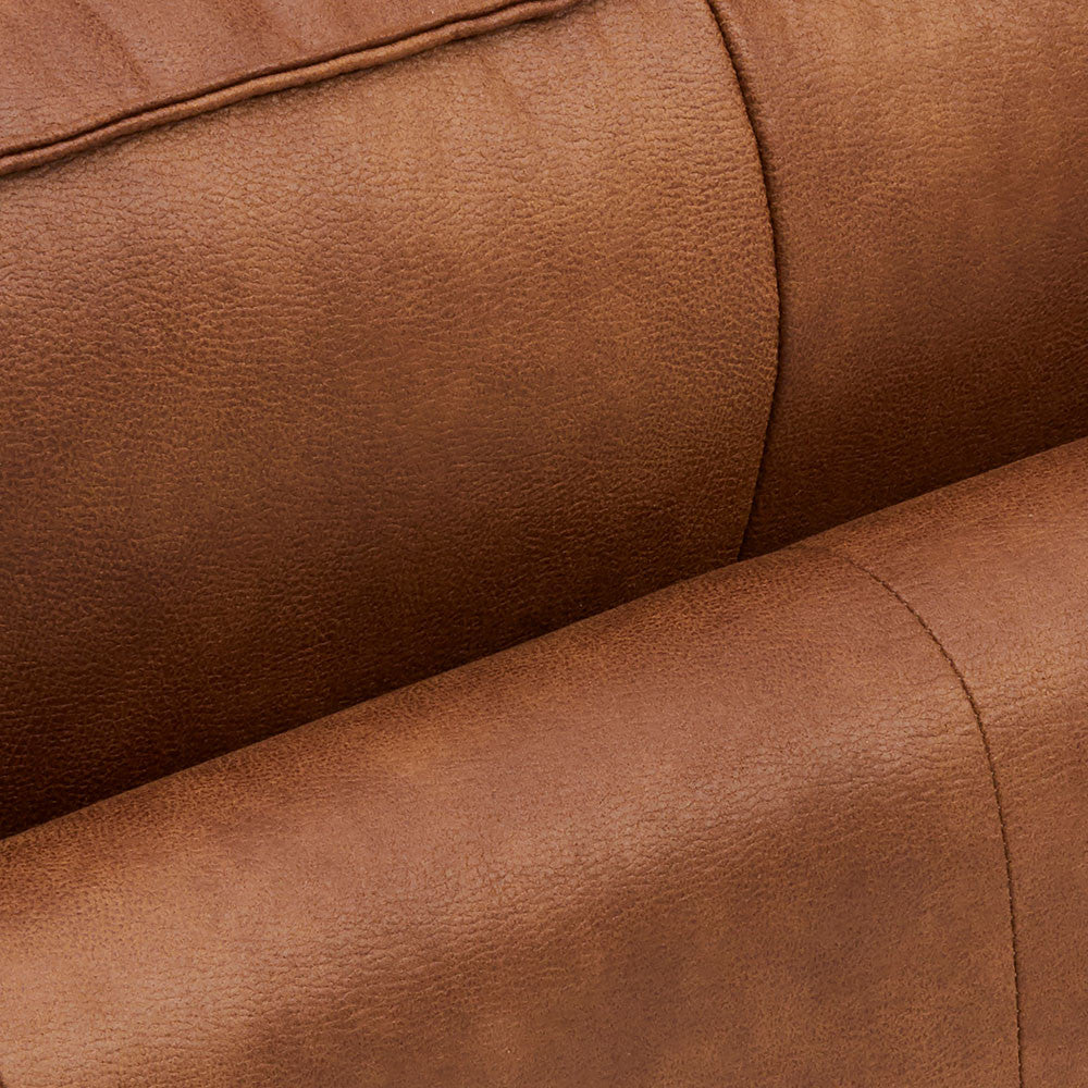 Neatly Sewn Leather Chester Sofa