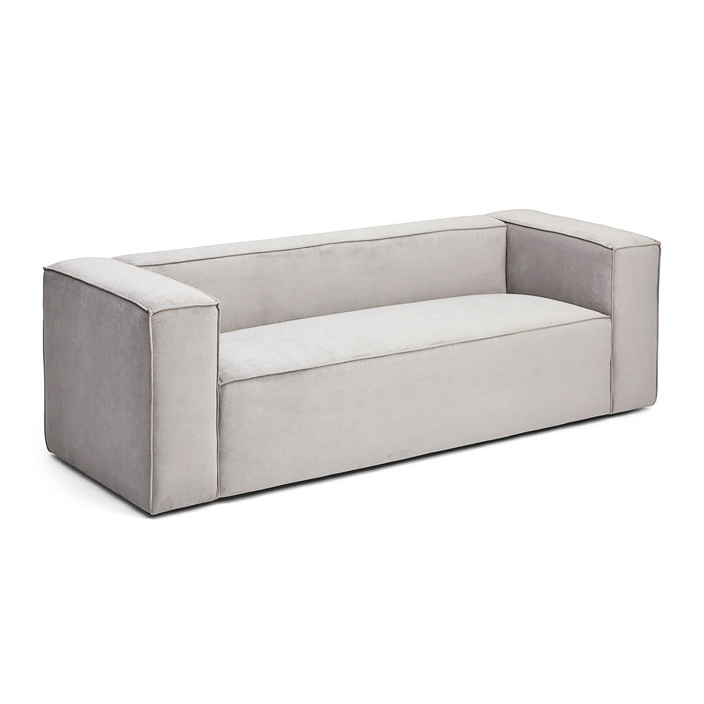Velvet Block Soho Sofa in Modern Living Room