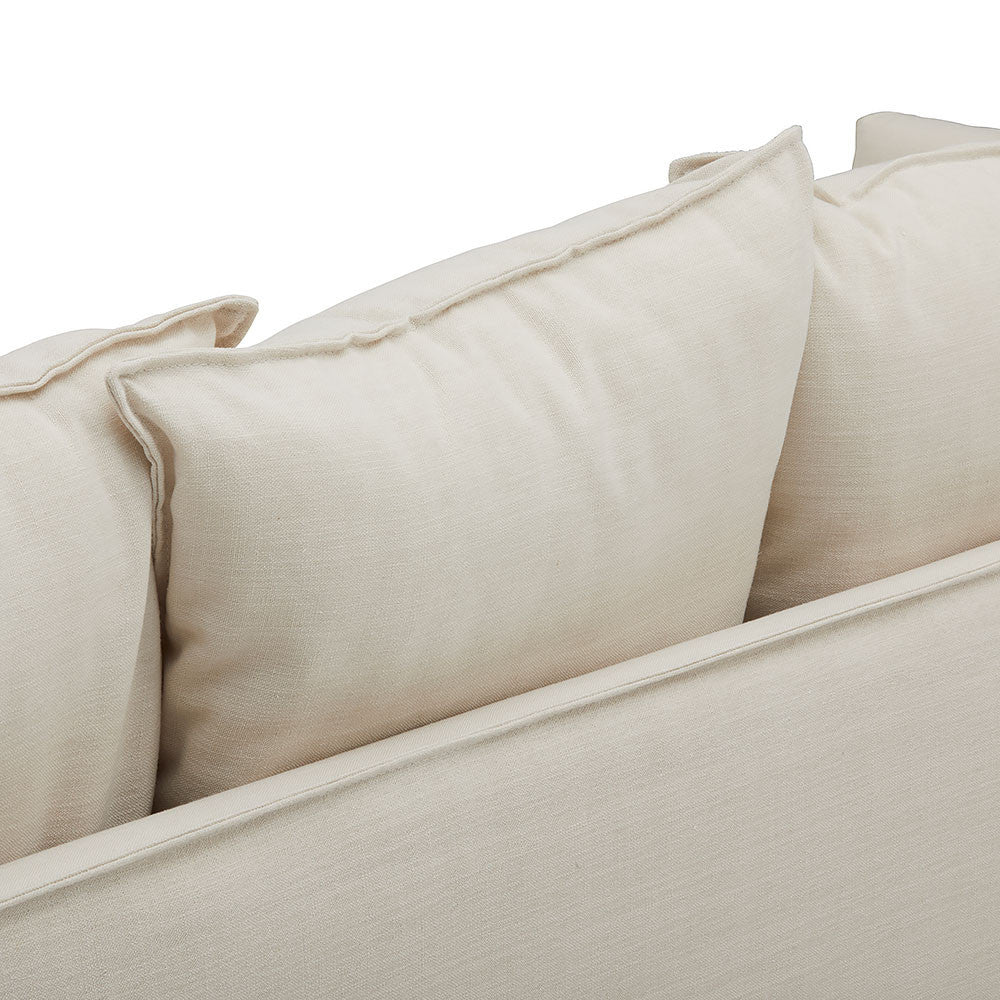 Soft Neutral Coloured Slip Wash Sofa