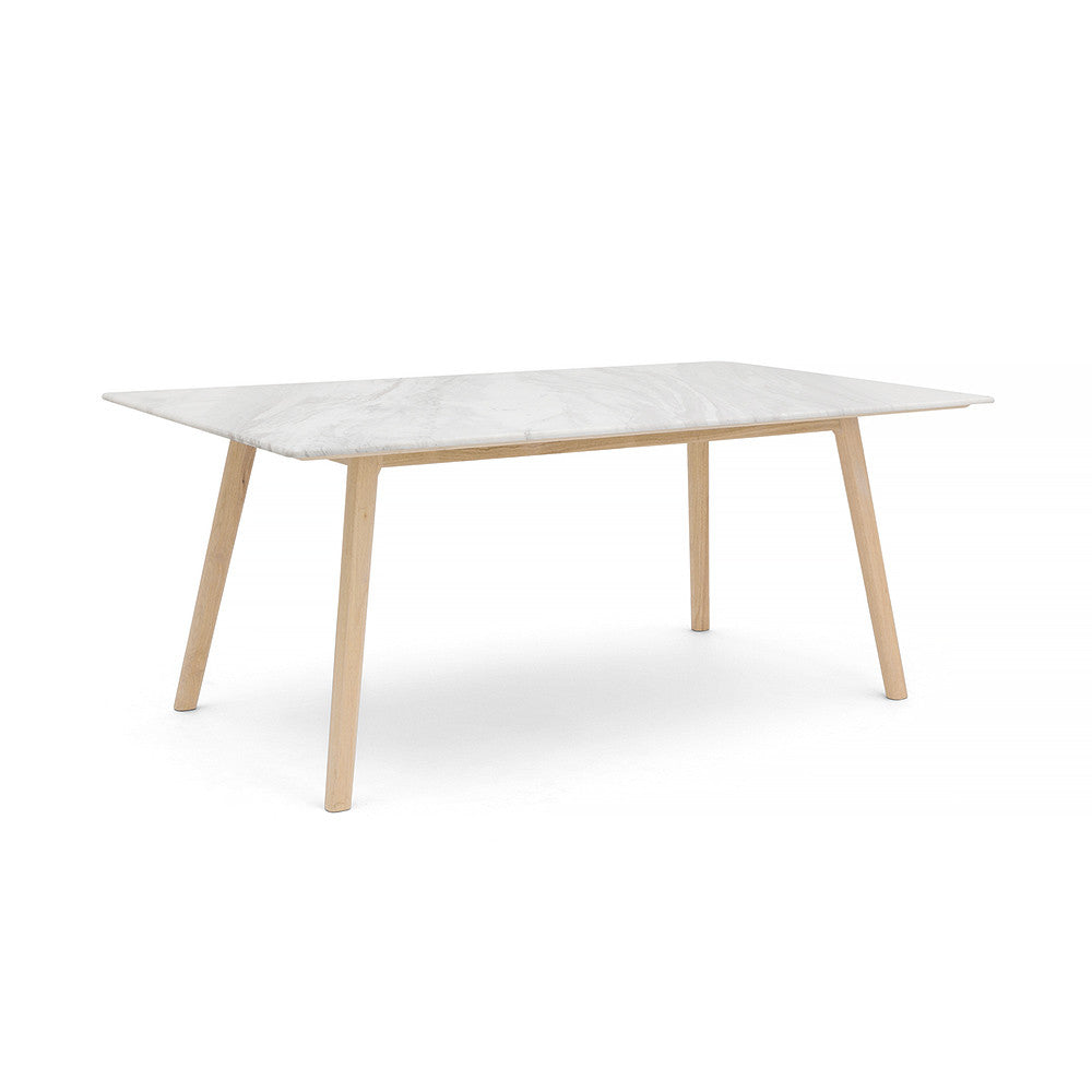 RECTANGLE MARBLE DINING TABLE -  - 5