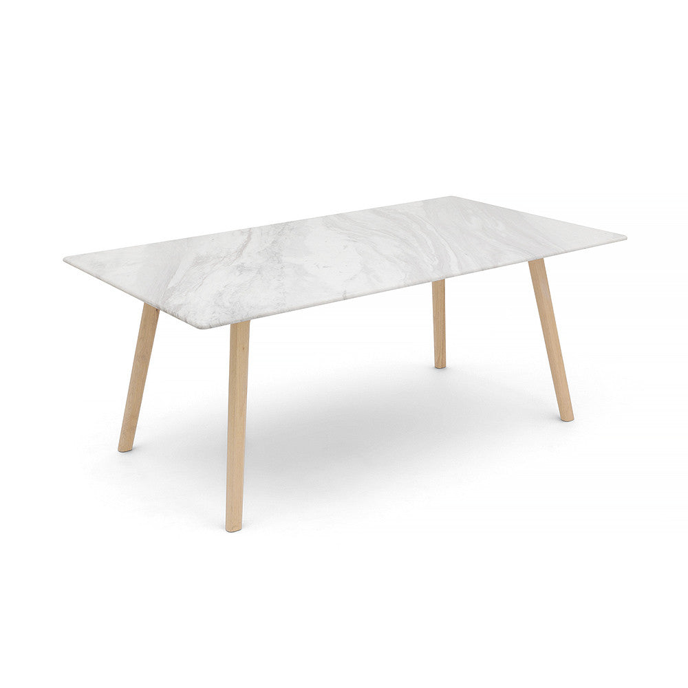 RECTANGLE MARBLE DINING TABLE -  - 2