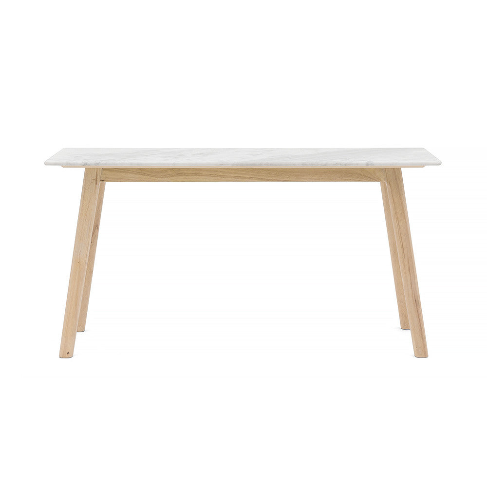 Scandi Rectangle & Narrow Marble Hall Table