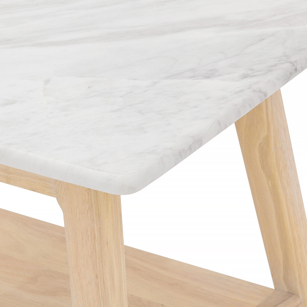 Closeup Look - Marble Bedside Table with Extra Marble Sealer