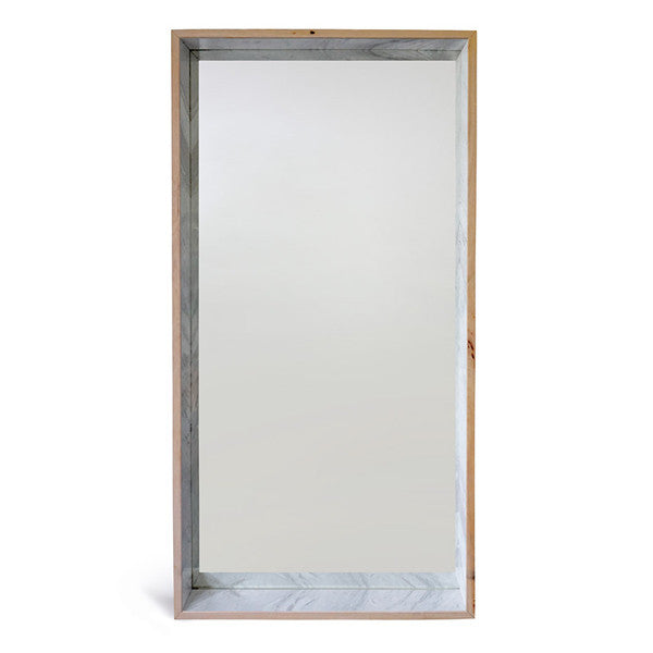 Free Standing Full Length Marble & Timber Mirror