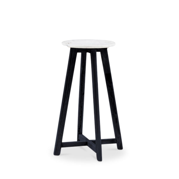 65cm Round Marble Bar Stool Harpers Project