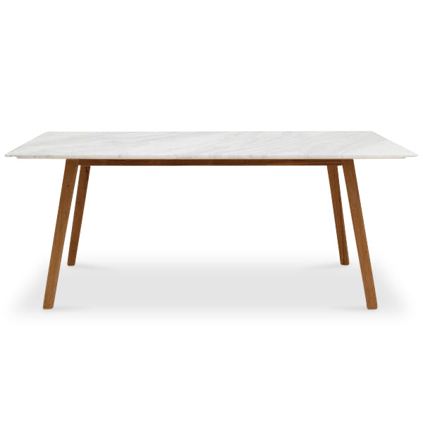 Scandi Rectangle Marble Dining Table